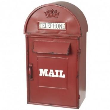 Boîte aux lettres rouge style Anglais