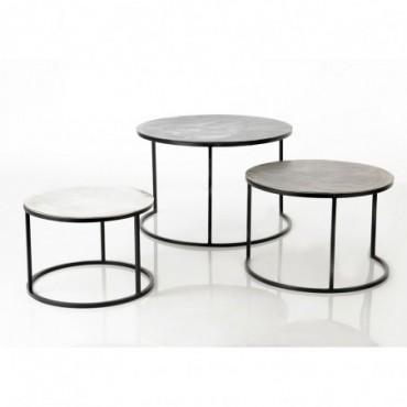 Set de 3 Tables Basses Fonte D'Alu