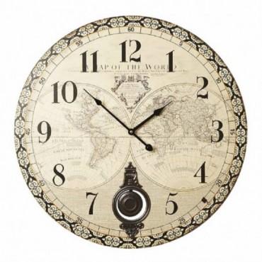 Horloge Atlas 58cm effet vieilli