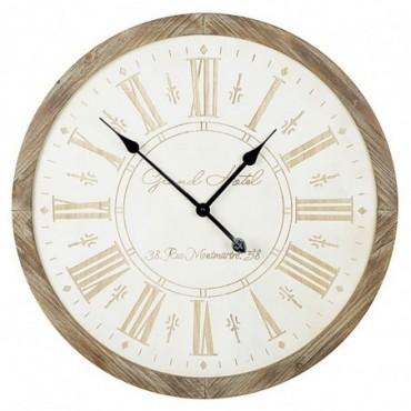 Horloge murale en bois 65cm