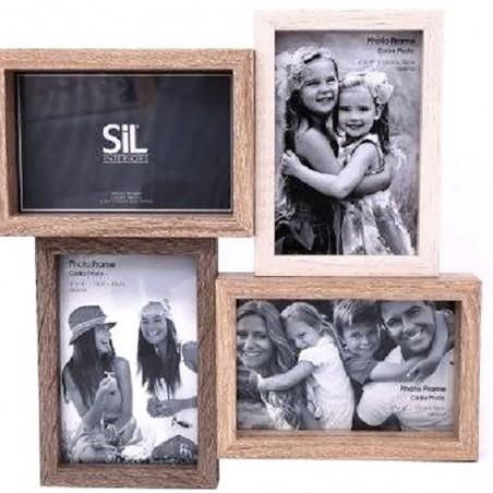 Cadre photo en bois pour 4 Photos