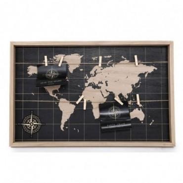 Pêle mêle Carte du monde 55cm