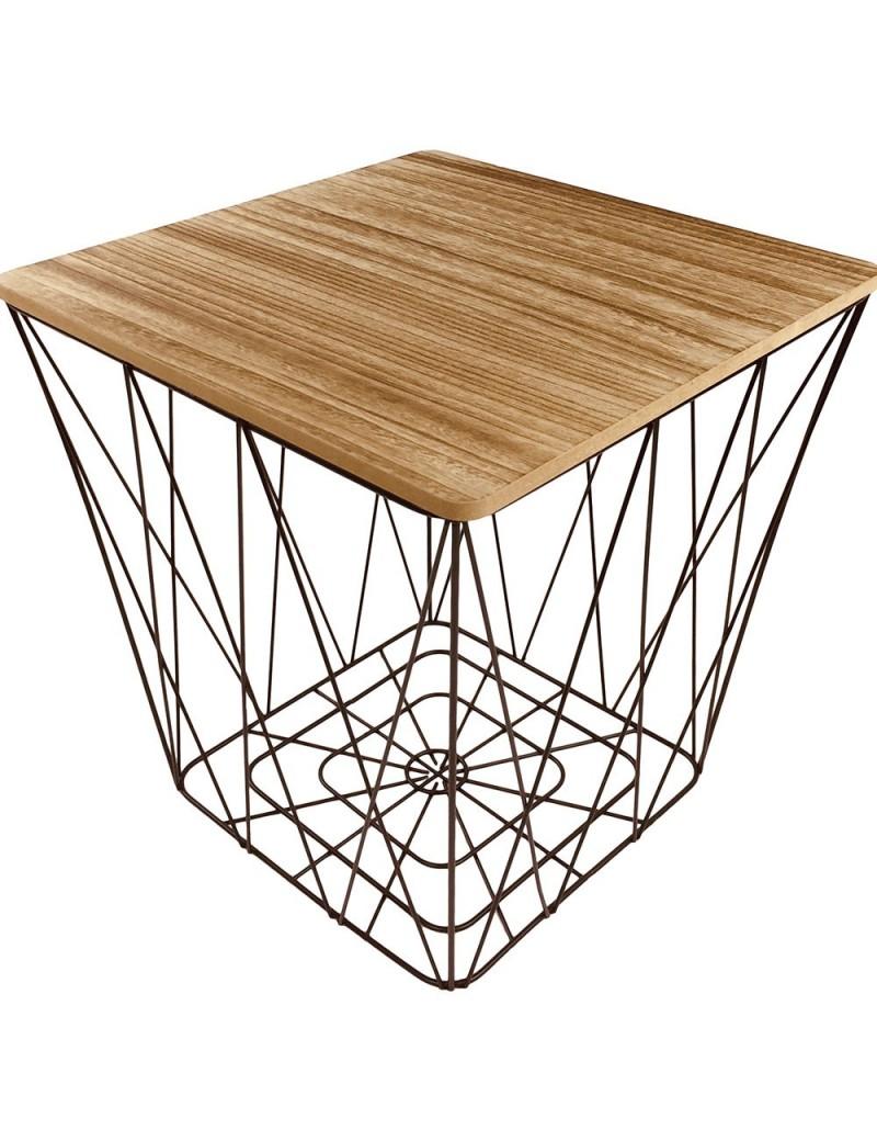 Table géométrique carrée noir
