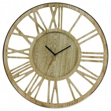 Horloge Argent bois 40cm