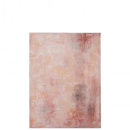 Peinture Taches Abstrait Canevas Rose Mix