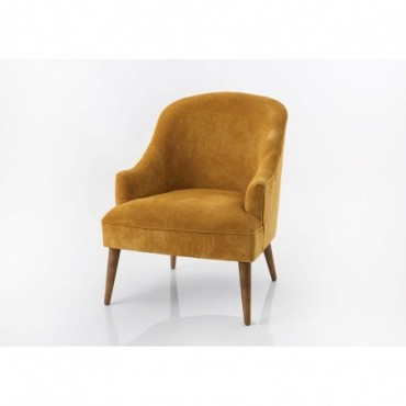 Fauteuil velours Moutarde Mike