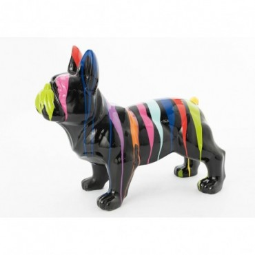 Bulldog Debout Trash Noir Taille Moyenne
