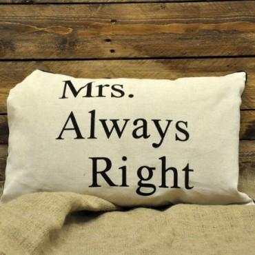 Coussin Mme a toujours raison
