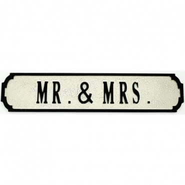 Pancarte en bois Mr & Mrs