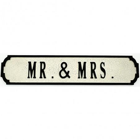 Pancarte en bois Mr & Mrs
