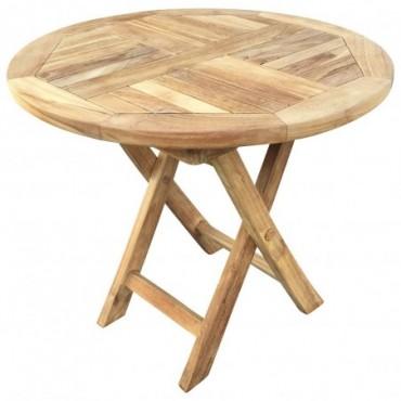 Table Pliante Ronde exterieur en Teck 50cm