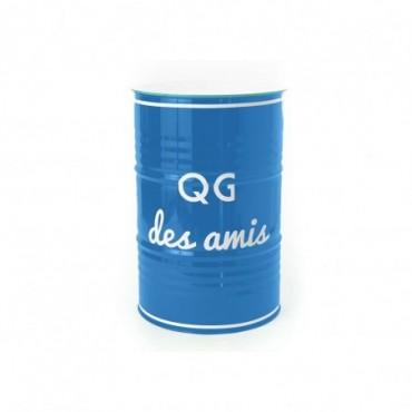 Tonneau Qg Des Amis 90 Bleu