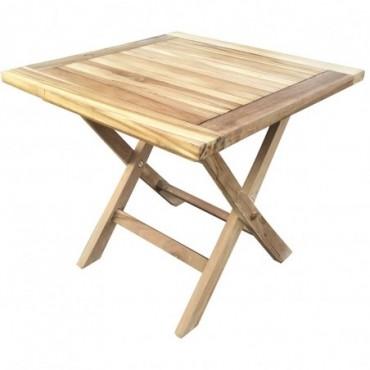 Table Pliante Carrée Exterieur En Teck 50 cm