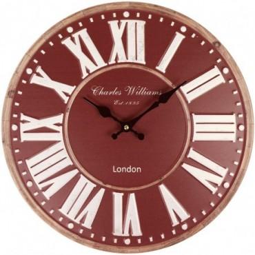 Horloge London Rouge 40cm