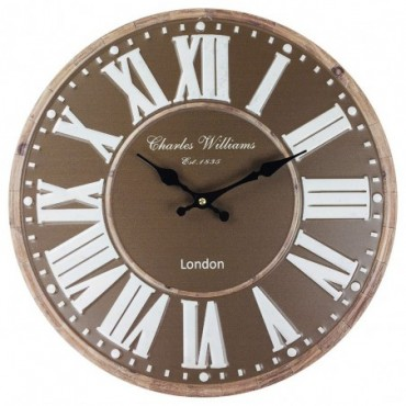 Horloge London Marron 40 cm