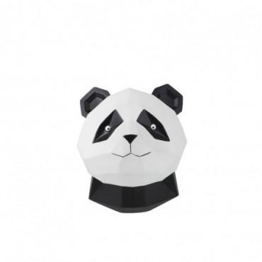 Panda Origami Suspendu Resine Noir/Blanc