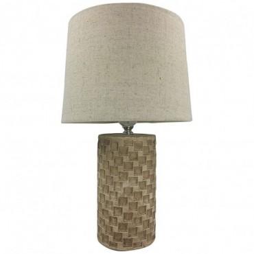 Lampe beige avec petits carreaux