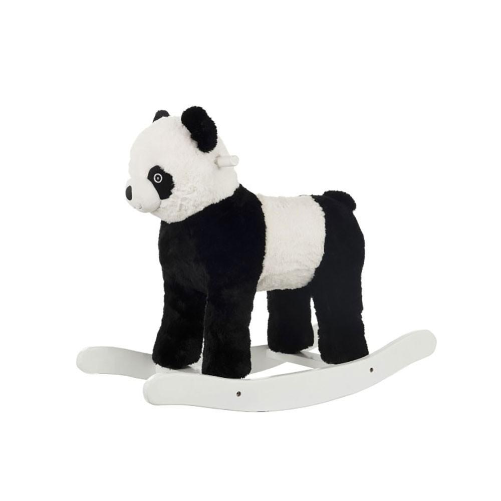 Panda A Bascule Peluche Noir/Blanc