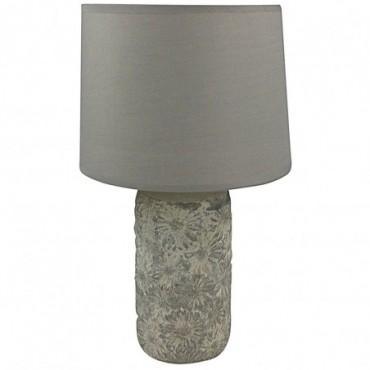 Lampe Florale grise vieillie