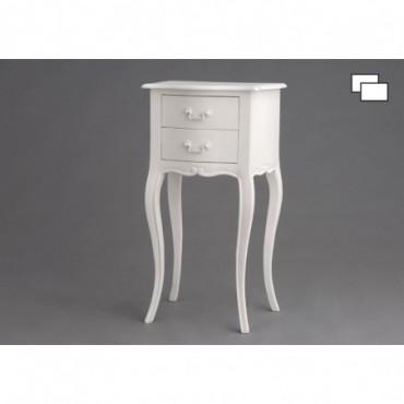 Table Tel 2 Tiroirs Apolline Couleur Crème Antique
