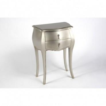 Table Tel 2 Tiroirs Murano Silver