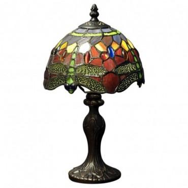 Lampe Tiffany Libellule rouge