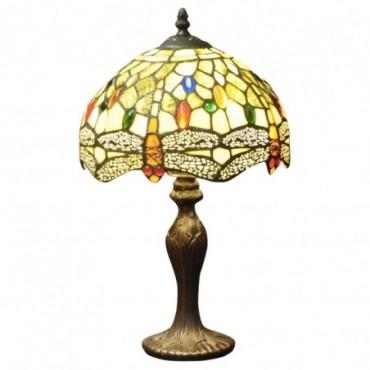 Lampe Tiffany Libellule jaune / ocre