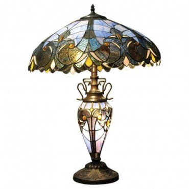 Lampe Double Tiffany Bleu