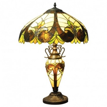 Lampe Double Tiffany Multicolore