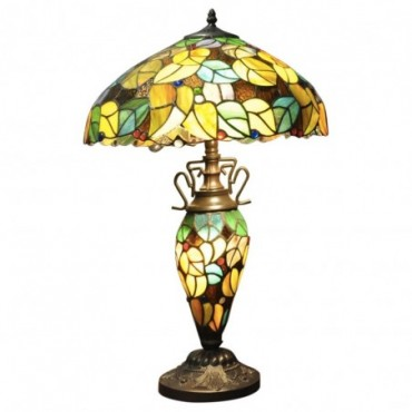 Lampe Double Tiffany Multicolore jaune