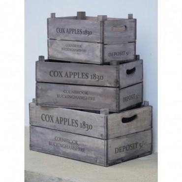 Cagette de pomme en bois