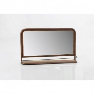 Etagère Miroir Cuivre