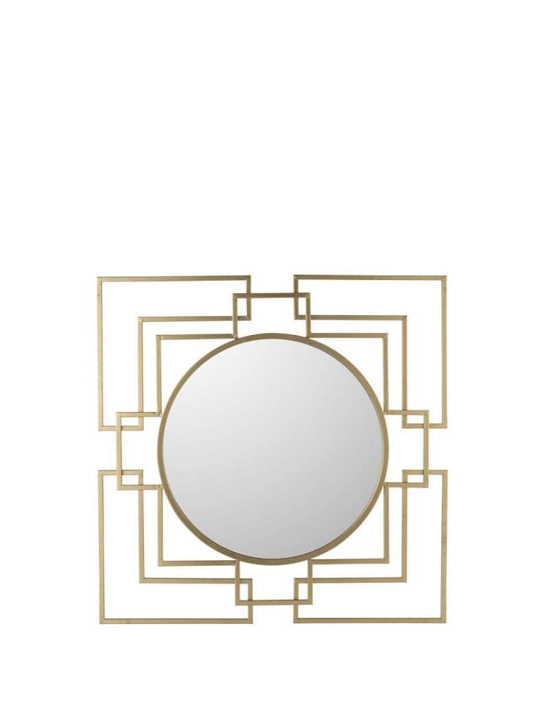Miroir Tibo Metal/Verre Or