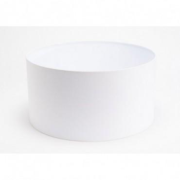 Abat Jour Cylindre Lin Blanc Ø45 - E27_40W