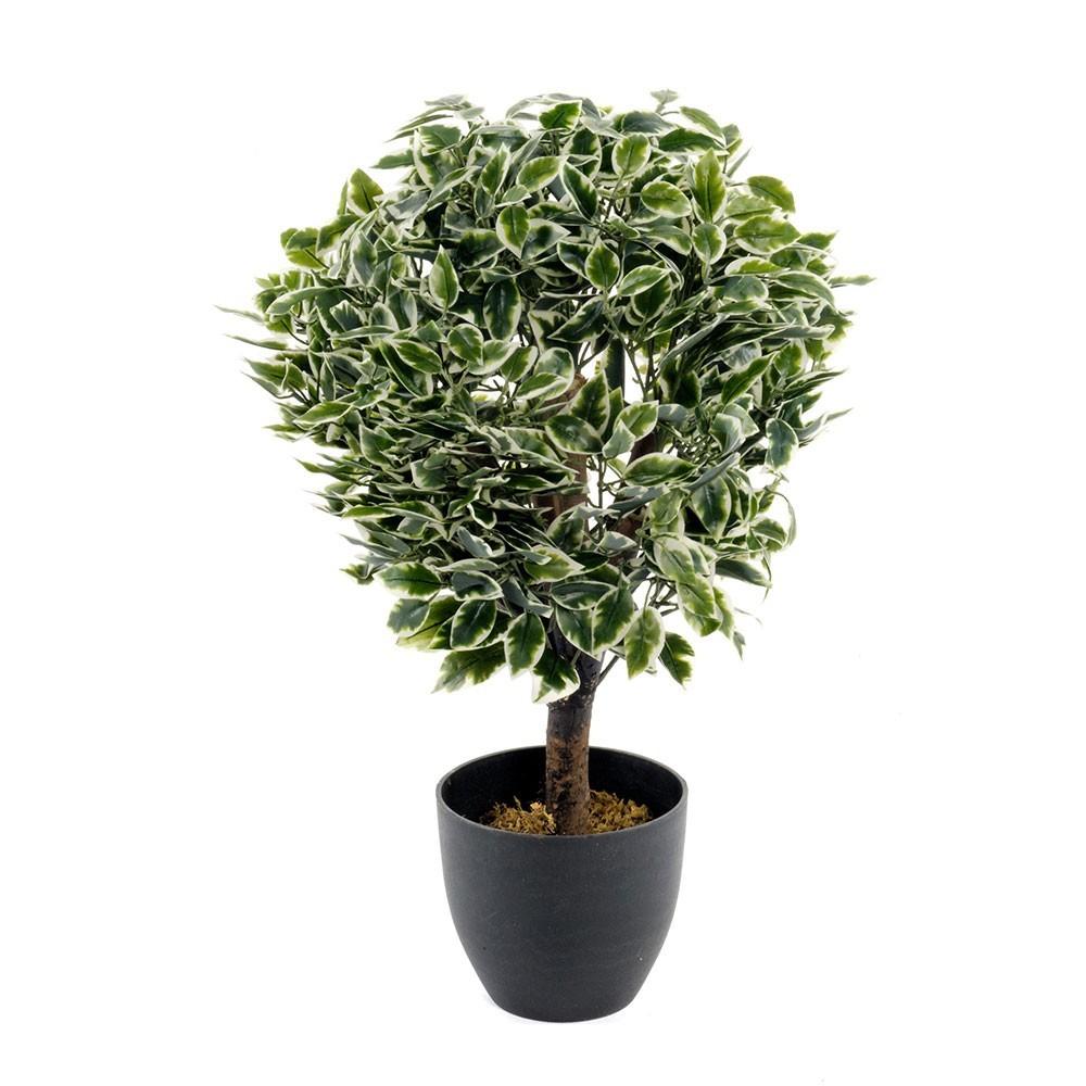 Ficus boule panache artificiel 65 cm