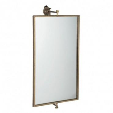 Miroir Suspendu Rectangulaire Metal/Verre Or