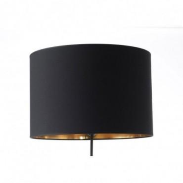Abat-jour Cylindre Coton Noir/Or 45 - E27_25W