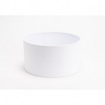 Abat Jour Cylindre Lin Blanc Casse Ø28 - E27_40W