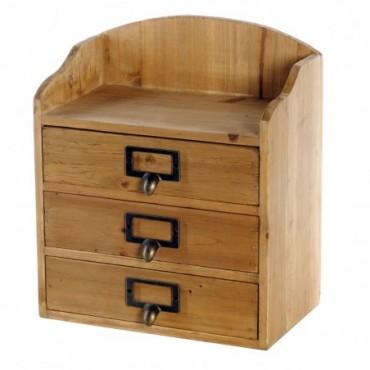 Armoire 3 tiroirs organiseur