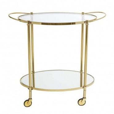 Table de bar fine or verre
