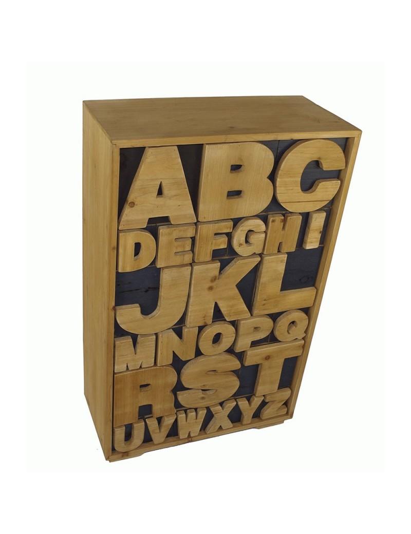 Cabinet à tiroirs Alphabet