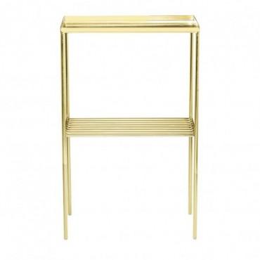 Table d'appoint en grille or métal