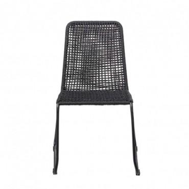 Chaise de salle à manger Mundo noir métal