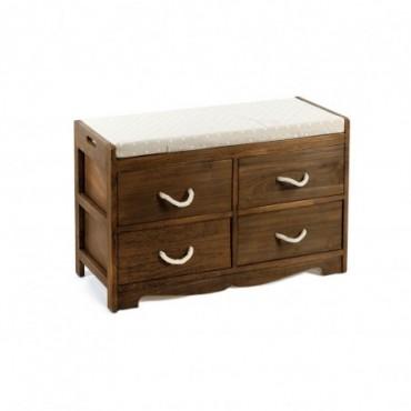 Banc en bois avec 4 tiroirs