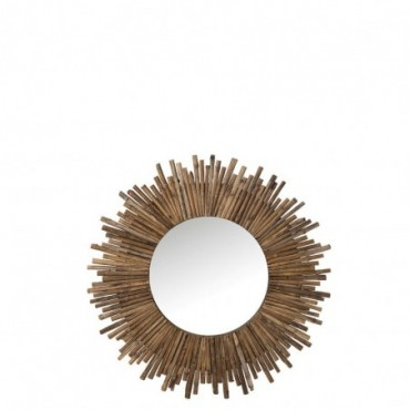 Miroir Rond Bambou Naturel