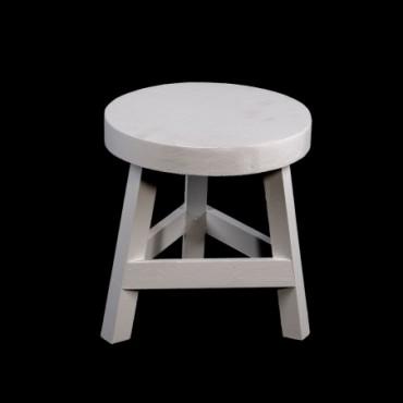 Tabouret en bois blanc 23 cm