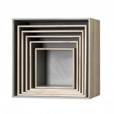 Boîte de présentation gris paulownia