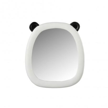 Miroir Panda Oreilles Resine Noir/Blanc