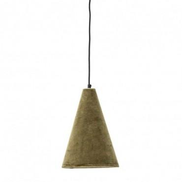 Lampe à suspension Hishant vert coton