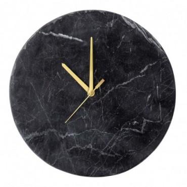 Horloge murale Jamin noir marbre